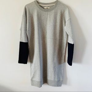 Madewell sweater dress gray blue size extra small